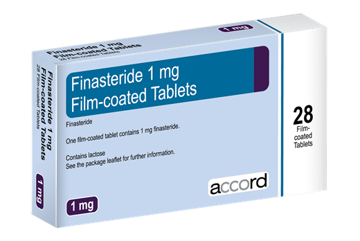 A box of finasteride - a medication used to combat the effects of hair loss